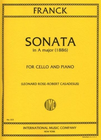 Sonata: A Major: Cello (International)