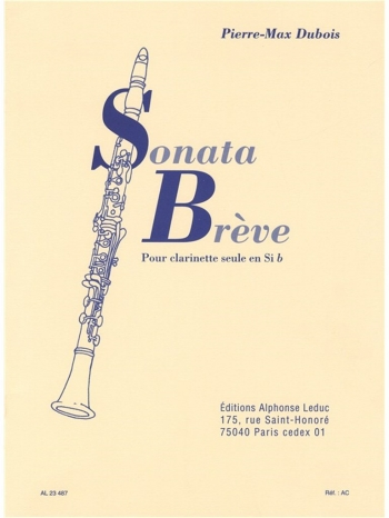 Sonata Breve: Clarinet (Leduc)