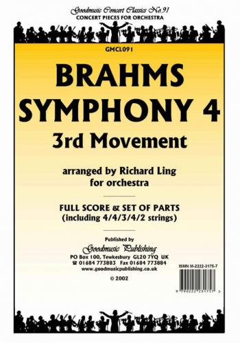 Orch/brahms/symphony 4 3rd Movt/orchestra/scandpts (ling)