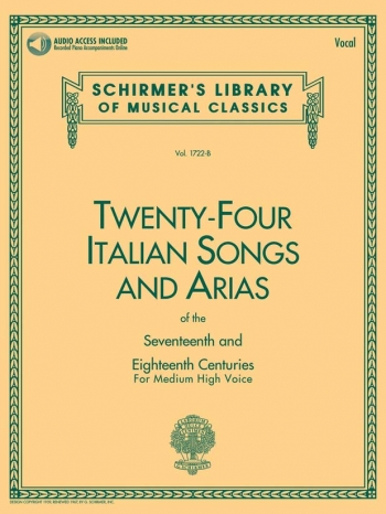 Twenty-Four Italian Songs & Arias Of The 17/18th Centuries - Medium-High Voice (Book/Onlin