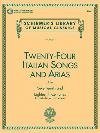 Twenty-Four Italian Songs & Arias Of The 17/18th Centuries - Medium-Low Voice (Book/Online