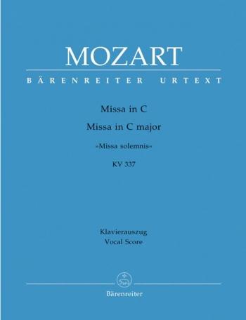 Missa Solemnis: K337: Vocal Score: Satb (Barenreiter)