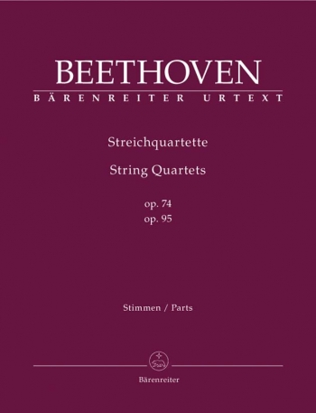 Beethoven: String Quartets: Op74 and Op95: Score and Parts: Urtext (J Del Mar)