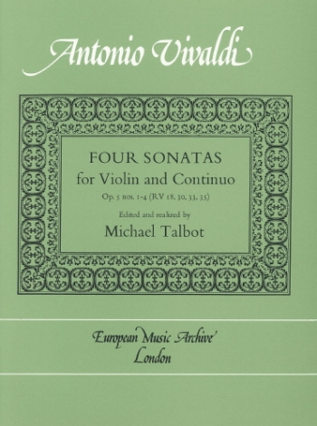 Sonatas 4: Op5 1-4: Violin and Piano