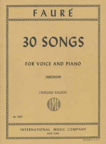 30 Songs: Vocal: Medium Voice & Piano