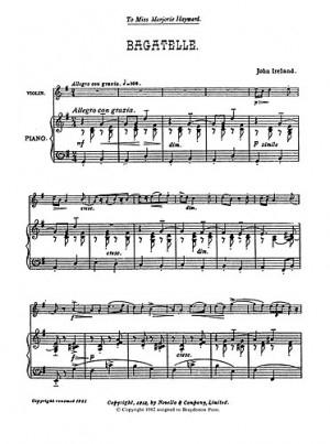 Bagatelle: Violin and Piano