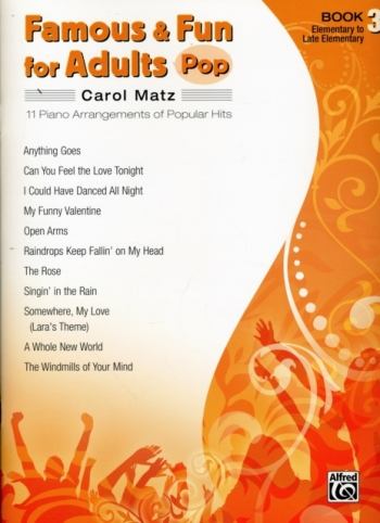 Famous and Fun For Adults Pop: Book 3: 11 Arrangements  Popular Hits