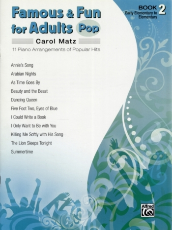 Famous And Fun For Adults Pop: Book 2: 11 Arrangements  Popular Hits