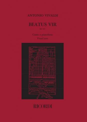 Beatus Vir: RV597: Vocal Score: (Psalm 111) In C (ed. B.Maderna) (Ricordi)