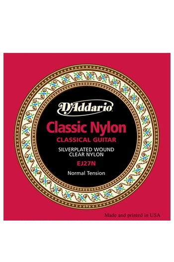 D'Addario Classical Guitar Ej27N Student Nylon, Normal Tension
