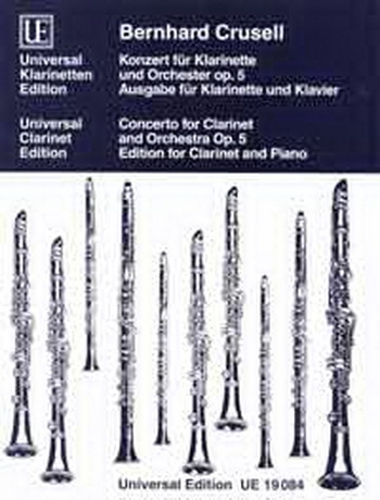 Clarinet Concerto: F Minor: Op5: Clarinet & Piano (Universal)