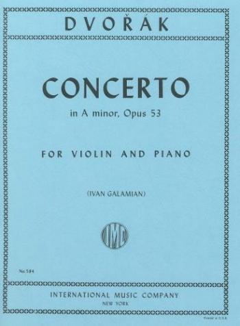 Concerto: A Minor: Op53: Violin and Piano