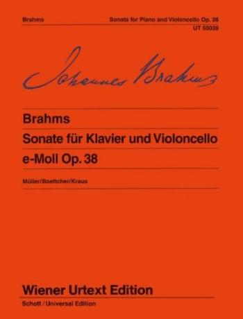 Sonata E Minor No.1 Op.38: Cello & Pianoo (Wiener Urtext)
