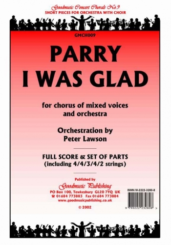 Orch/parry/i Was Glad/voice and Orchestra/scandpts (lawson)
