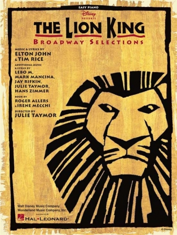 Lion King: Broadway Selections  Easy Piano