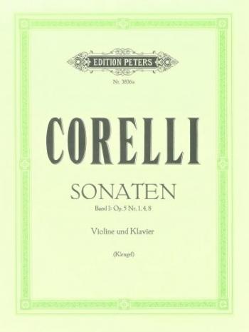 Sonatas: Vol 1 Op5: Violin and Piano (Peters)