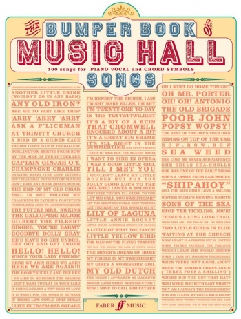 Bumper Book Of Music Hall Songs - Piano Vocal Guitar
