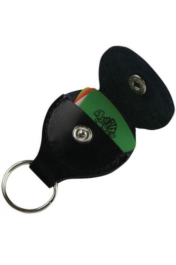Jim Dunlop Pickers Pouch Keyring: Leather Plectrum Holder