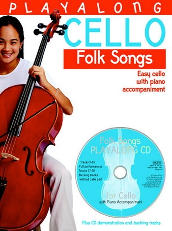 Playalong Cello Folk Songs: Cello & Piano: Book & CD (Bosworth)