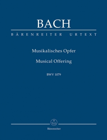 Musical Offering: Bwv1079 Study score (Barenreiter)