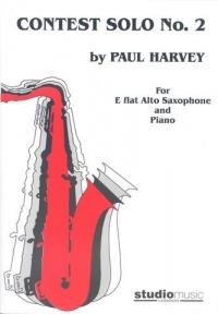 Contest Solos: Book 2: Alto Saxophone & Piano (Harvery)