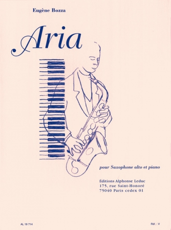 Aria For Alto Saxophone & Piano (Leduc)