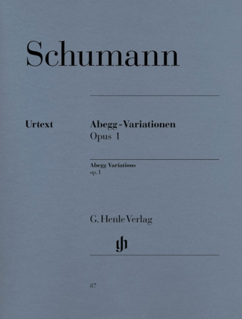 Abegg: Variations: Op.1: Piano  (Henle Ed)