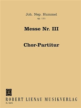 Mass In Dminor: Op111: Vocal Score