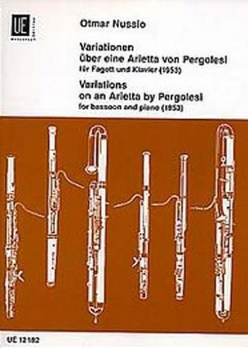 Variations On An Arietta By Pergolesi: Bassoon  & Piano (Universal)