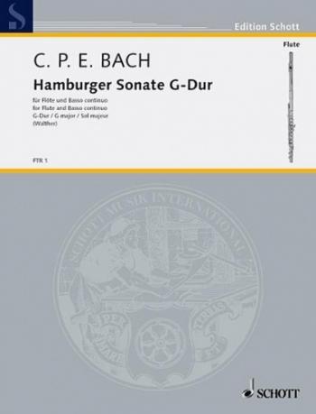 Flute Sonate Hamburg: G Major: Flute & Piano (Schott)