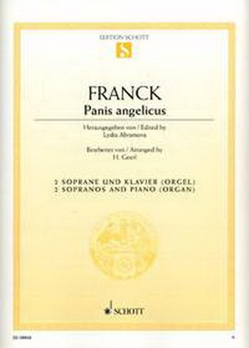 Franck: Panis Angelicus: Vocal: 2 Sopranos and Piano Or Organ (Geerl)