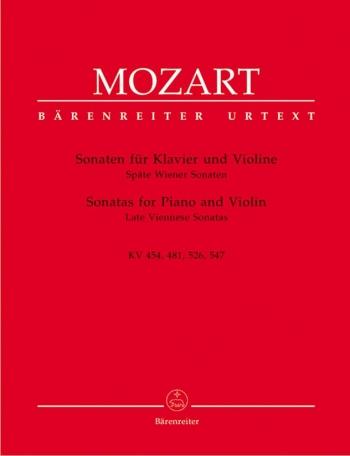 Sonatas -K454, 481,526, 526  Complete: Violin and Piano (Barenreiter)