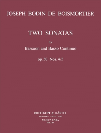 Two Sonatas 4 and 5: Op.50: Bassoon & Piano (Breitkopf)