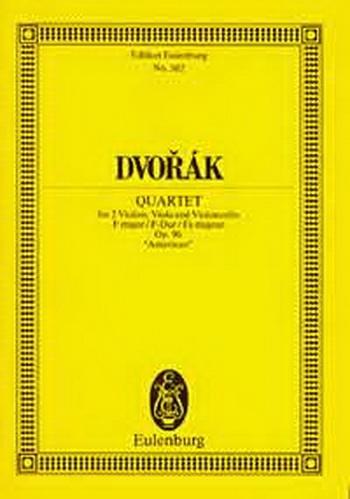 String Quartet F Major Op96: American: Miniature Score