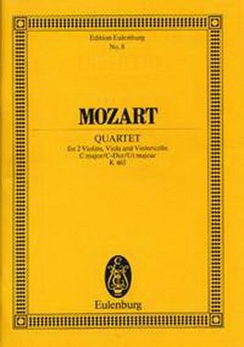String Quartet: C Major: Kv465: Dissonance: Miniature Score