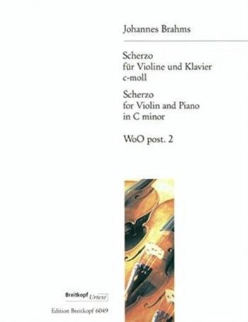Scherzo C Minor: Violin & Piano (Breitkopf)
