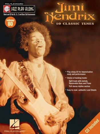 Jimi Hendrix: Jazz Play Along: Vol 80 For Bb, Eb, C And Bass Clef Instruments
