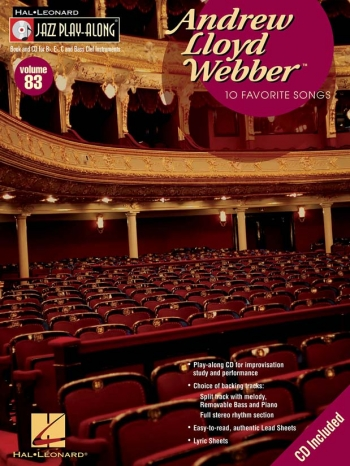 Jazz Play Along Vol.83: Andrew Lloyd Webber: Bb or Eb or C Instruments: Book & CD
