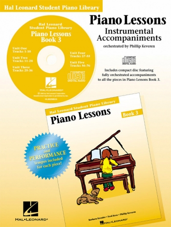 Hal Leonard Student Piano Library: Book 3: Cd: Piano Lessons