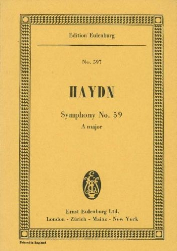 Symphony No.59: A Major: Miniature Score