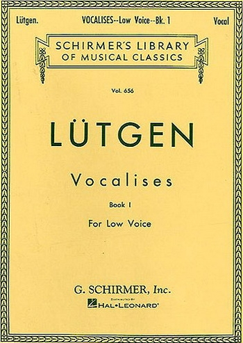 Lutgen: Vocalises: Low Voice: 1