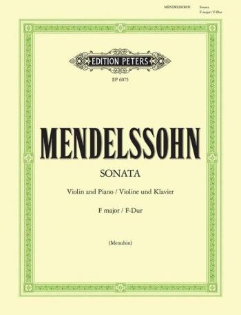 Sonata In F: Violin (Peters)