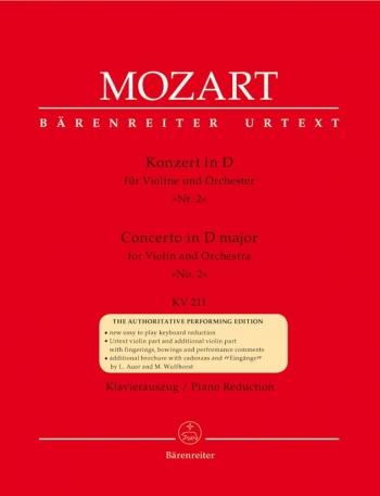 Concerto: D Major No2: K211: Violin and Piano (Barenreiter)