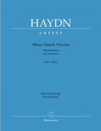 Missa Sancti Nicolai: Vocal Score (Barenreiter)