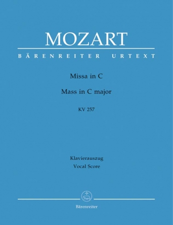 Mass In C Major: K257: Vocal Score (Barenreiter)