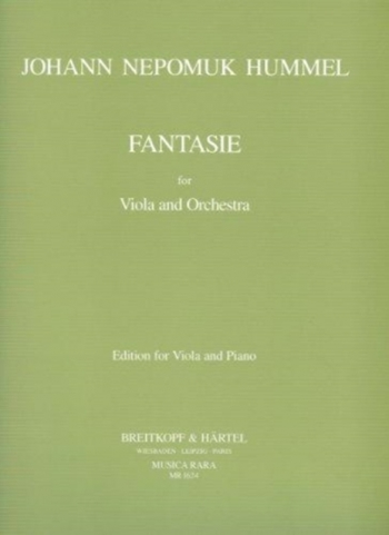Fantasia: Viola and Orchestra (Piano) (Breitkopf)