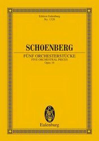 5 Orchestral Pieces: OP16: Miniature Score