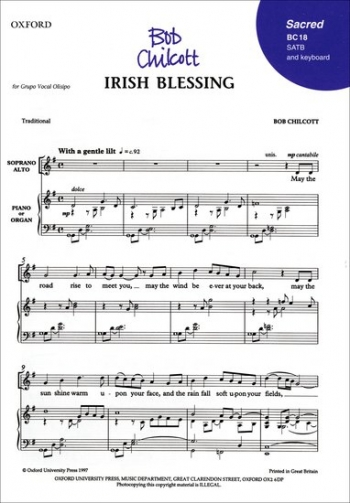 Irish Blessing: Vocal: Satb