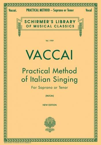 Practical Method Of Italian Singing Soprano Or Tenor (Schirmer)