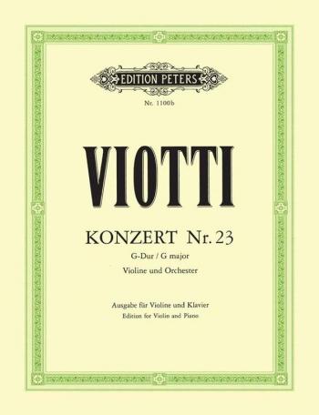 Concerto: G Major: No23: Violin and Piano (Peters)